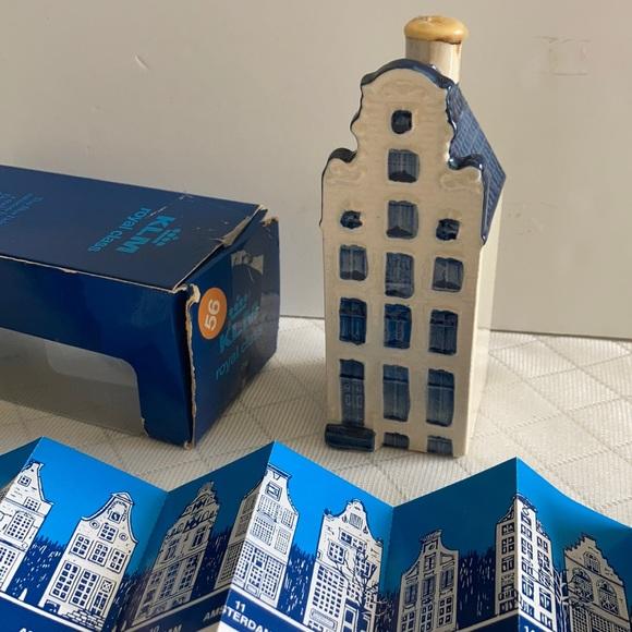 KLM Dutch canal house Delph blue ceramic decor